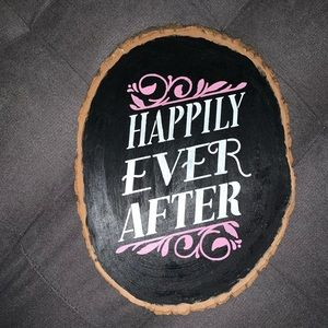 """'Happily Ever After"""" wood board home decor"""